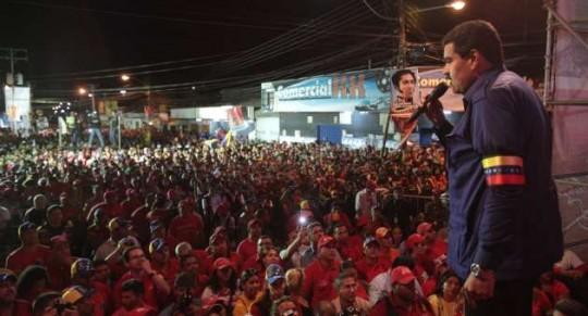 Nicolás Maduro en masiva concentración en Aragua. 23 de marzo de 2013