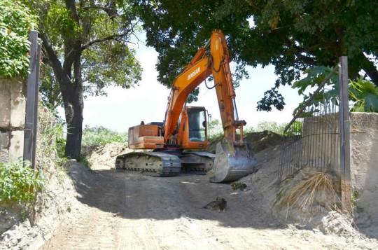 Rehabilitan vialidad en zonas afectadas por las lluvias en Cagua