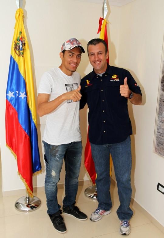 Tareck EL Aissami y Juan Arango