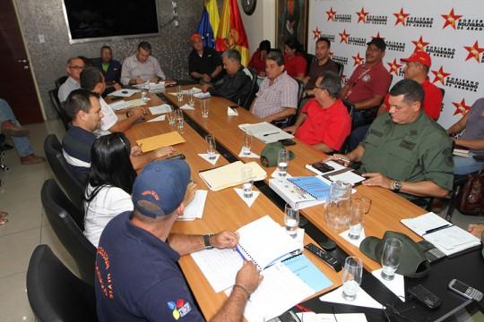 Reunión con secretarias, secretarios y representantes de los cuerpos de emergencia y protección.