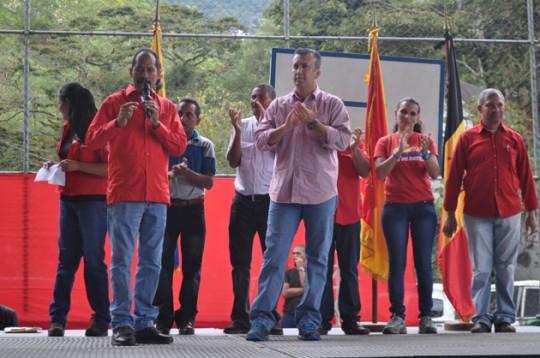 Tareck El Aissami abandera UBCH en municipio Tovar