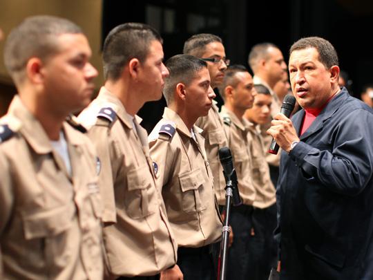 Comandante Supremo Hugo Chávez y Policía Nacional Bolivariana