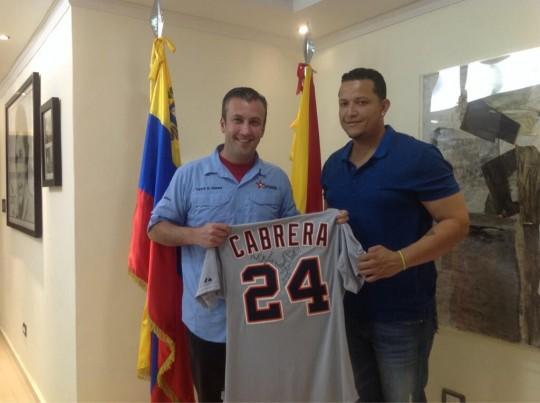 Tareck El Aissami y Miguel Cabrera evaluaron proyectos para el fortalecimiento del deporte en Aragua