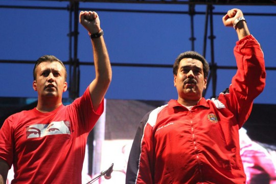 Nicolás Maduro y Tareck El Aissami. Foto de archivo