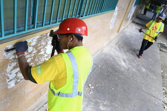 Rehabilitación de fachada del Hospital Central de Maracay