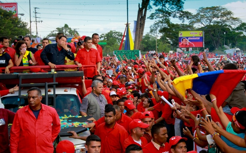 Inicio de la recta final de la campaña de Carabobo rumbo a la victoria del 7-O, en Charallave, municipio Cristóbal Rojas del estado Miranda. Domingo 09 de septiembre de 2012