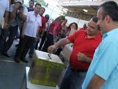Alcalde Pedro Bastidas y Gobernador Tareck El Aissami en Simulacro Electoral. 20 de octubre de 2013