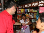 Caminata por el pueblo de San Casimiro,  desde la emisora comunitaria Gema hasta la calle Lucas Guillermo Castillo. 4 de noviembre de 2012
