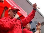Candidato Víctor Flores y Gobernador Tareck El Aissami en Simulacro Electoral. 20 de octubre de 2013