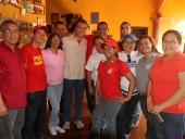 Visita a la casa de la Señora Dora y el Seños Oscar, donde el Comandante Hugo Chávez dejó un mensaje en el año 1995. 22 de noviembre de 2012.