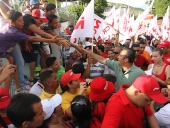 El Aissami recorrió calles de La Mora al calor del pueblo revolucionario. 11 de noviembre de 2012