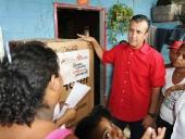 Gobernador de Aragua visita la comunidad Esteban Liendo. 16 de mayo de 2013.