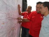 Inspección de limpieza y dragado realizadas en el dique Cari Cari. 30 de mayo de 2013