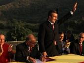 Tareck El Aissami se juramenta como Gobernador de Aragua en el Ingeno Bolivar. 27 de diciembre de 2012.