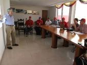 Tareck El Aissami y el Ministro Hébert García Plaza evaluaron el avance del plan maestro de desarrollo del aeropuerto internacional. 6 de agosto de 2013.