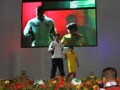 Tareck El Aissami participó en la presentación oficial de los jugadores del equipo Aragua Fútbol Club. 7 de agosto de 2013