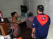 Recorrido casa por casa en el barrio El Venerable. 20 de junio de 2013.
