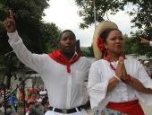 Tareck El Aissami se reunió en la Concha Acústica de Maracay, con representantes de las 17 principales manifestaciones artísticas de la entidad para conocer sobre sus necesidades e inquietudes. 17 de noviembre de 2012.