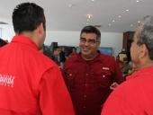 Reunión de Tareck El Aissami con candidatos a las alcaldías. 23 de octubre de 2013