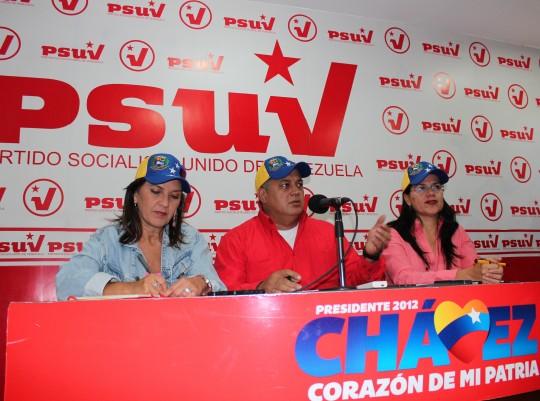 Rueda de Prensa en Casa Nacional del PSUV. 15 de febrero de 2013.