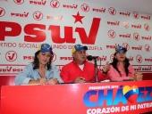 Rueda de Prensa en Casa Nacional del PSUV. 14 de febrero de 2013.