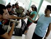 Simulacro electoral realizado en la escuela básica El Limón. 20 de octubre de 2013