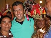 Tareck El Aissami celebró con la comunidad 23 de Enero  y con la Cofradía de Turiamo, el nombramiento de los Diablos Danzantes como Patrimonio Cultural de la Humanidad. 7 de diciembre de 2012.