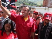 Tareck El Aissami desarrolló una caminata en el municipio San Casimiro en el marco del  inicio de la ofensiva final de la campaña electoral que lleva por nombre: del Sur del estado Aragua hacia la Victoria Perfecta. 24 de noviembre 2012.