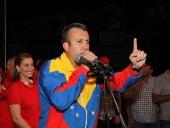Tareck El Aissami logró la victoria en estos comicios regionales y se impuso con el 52.72% de los votos. Expresó que fue una jornada hermosa de la democracia venezolana a través de la cual las y los habitantes decidieron su destino. 16 de diciembre de 2012.