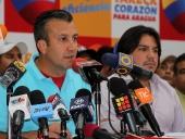 Tareck El Aissami ofreció rueda de prensa sobre balance electoral hasta la fecha. Expresó que han logrado contactar a través del 1×10, a más de 480 mil militantes revolucionarios. 5 de diciembre de 2012.