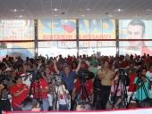 Tareck El Aissami participó en la rueda de prensa sostenida en la sede del Comando de Campaña Carabobo. Afirmó que la victoria electoral del venidero 16 de diciembre será un tributo a la salud del presidente Hugo Chávez. 10 de diciembre de 2012.