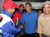 Tareck El Aissami se reunió con la Comunidad Libanesa en el sector El Limón del municipio Mario Briceño Iragorry, sus integrantes manifestaron respaldo absoluto a su candidatura. 29 de noviembre de 2012.