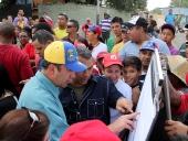 Tareck entrega recursos en el Municipio Girardot. 28 de febrero de 2013